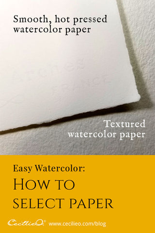 Easy Watercolor- How to Select Paper for Amazing Effects