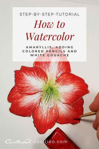 How To Watercolor An Amaryllis Flower