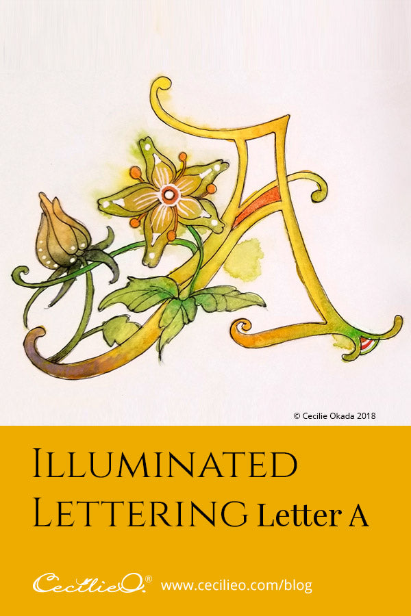 How to draw and paint an illuminated letter
