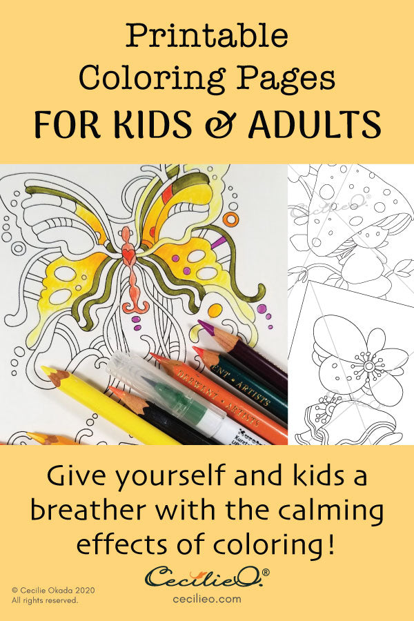 Give yourself and kids a breather with the calming effects of coloring!