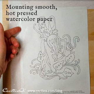 Mounting watercolor paper