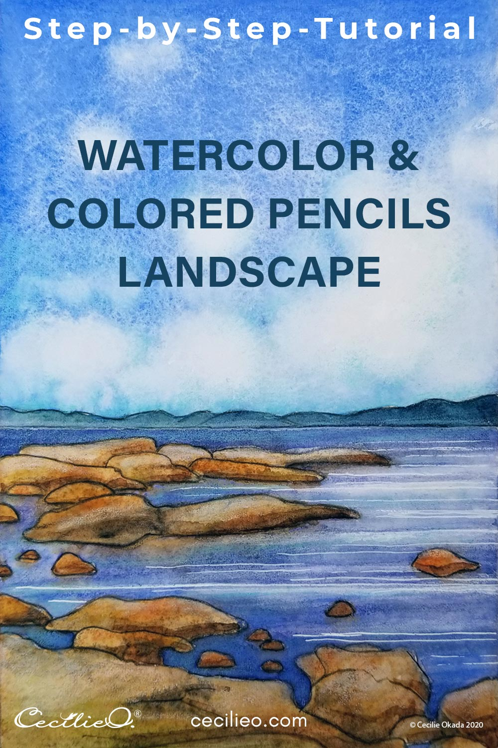 How to Watercolor a Realistic Landscape With Water and Clouds