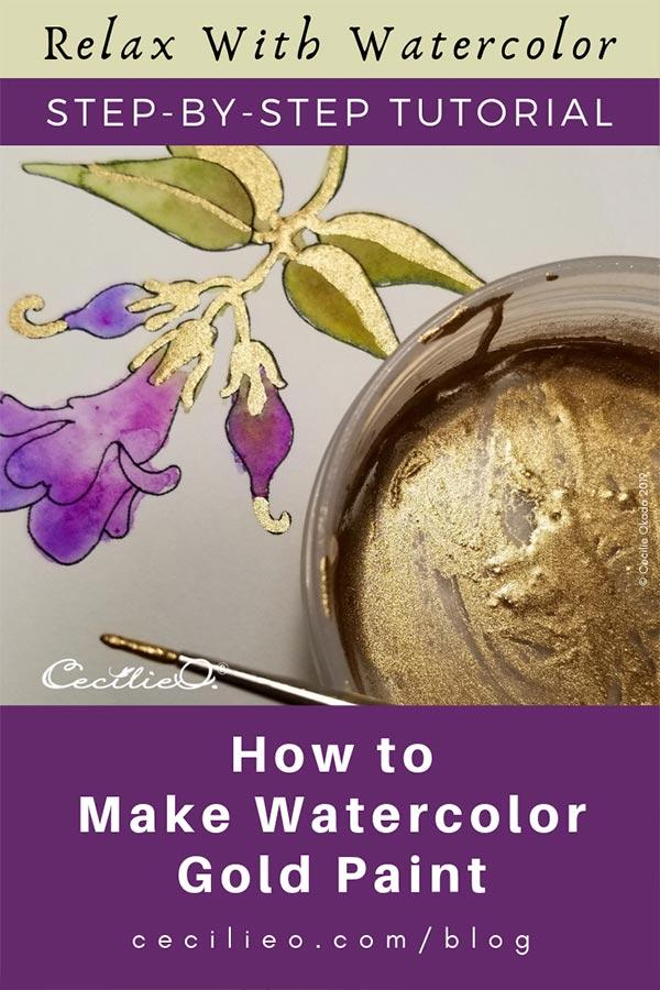 How To make Watercolor Gold Paint In For Easy Steps