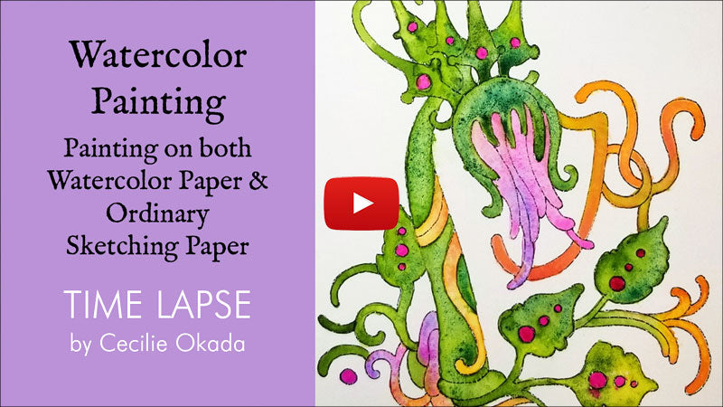 Watercolor tutorial- what kind of paper?