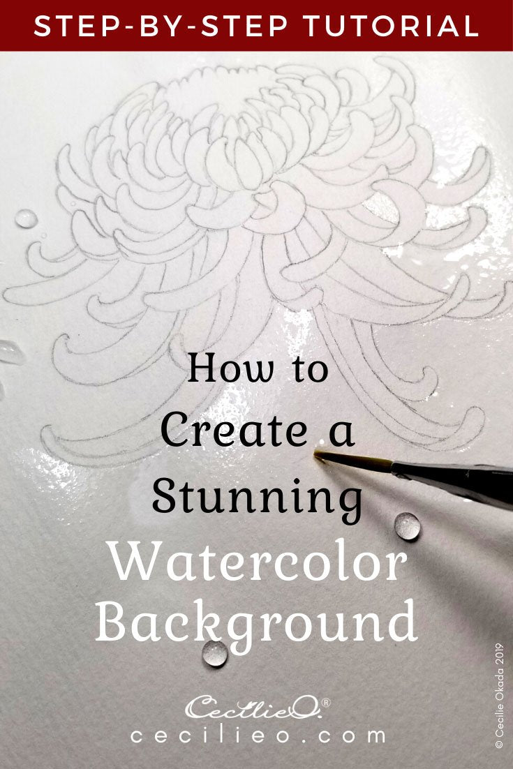 How to watercolor a chrysanthemum flower 2