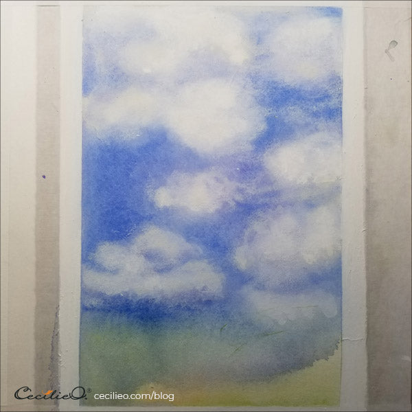 Watercolor clouds all done