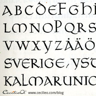Celtic Unical font