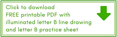 Free resources for drawing an illuminated letter B