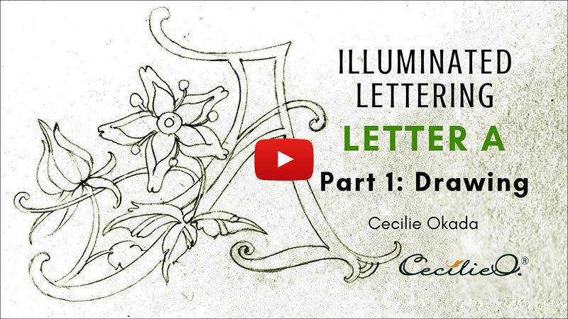 Time-lapse drawing an illuminated letter A