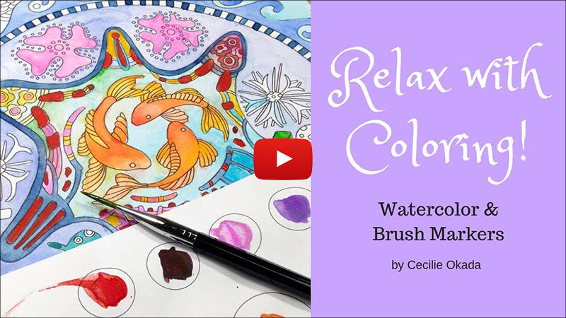 How to use watercolor in coloring calendar
