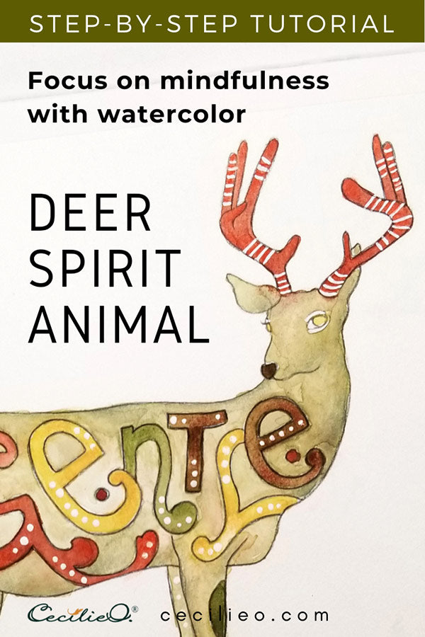 Focus on Mindfulness: Deer Spirit Animal with Watercolor