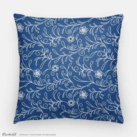 Blue Flowers 2 Pillow Case