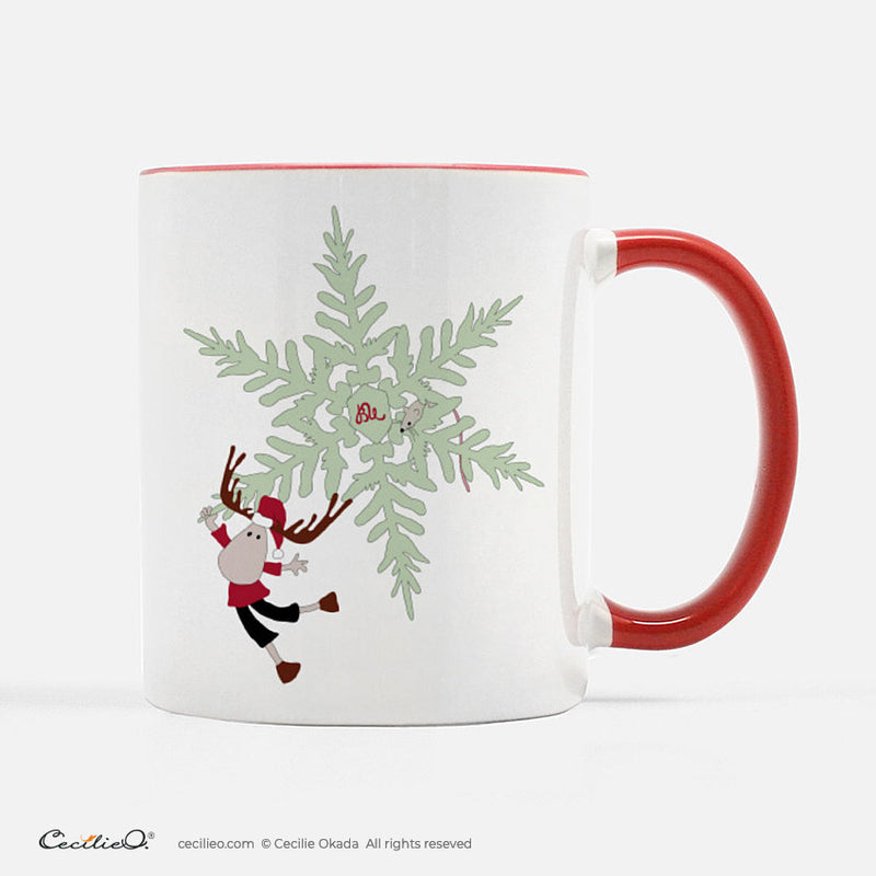 BrynUlf Elk Coffee Mug | Snow Crystal