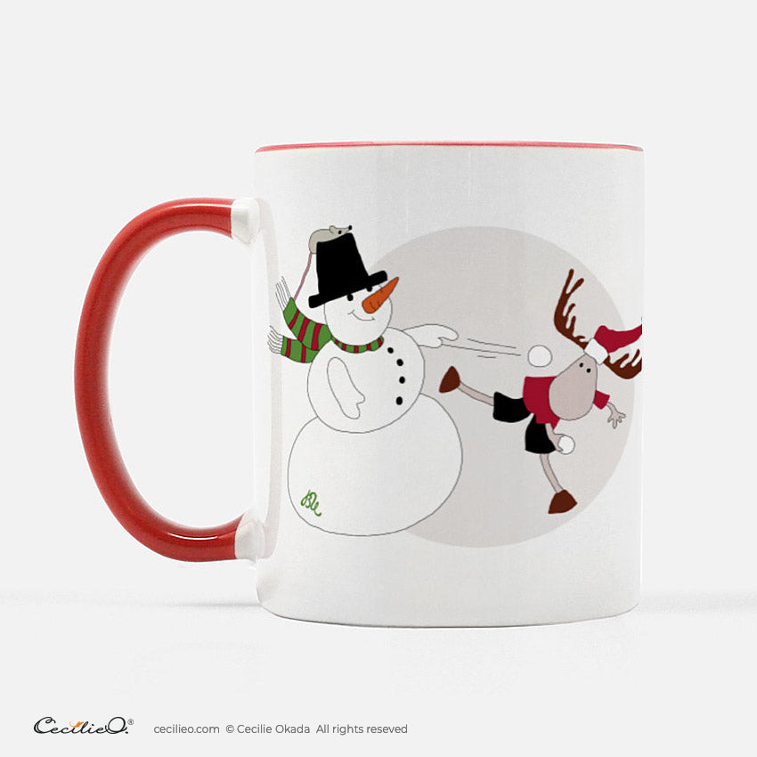 BrynUlf Elk Coffee Mug | Snowball Fight