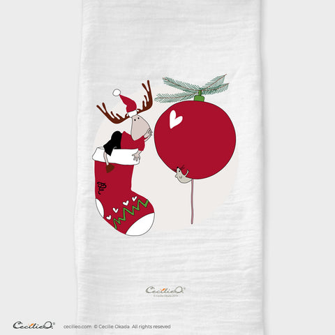 BrynUlf Elk Tea Towel | Christmas Stocking