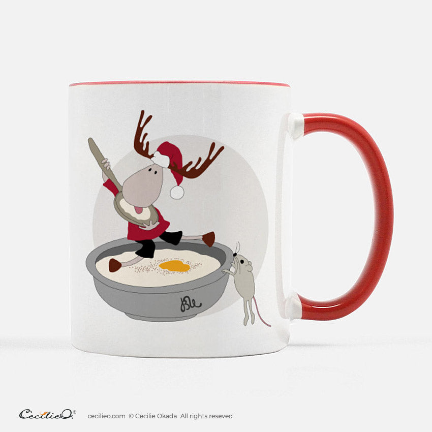 BrynUlf Elk Coffee Mug | Christmas Porridge
