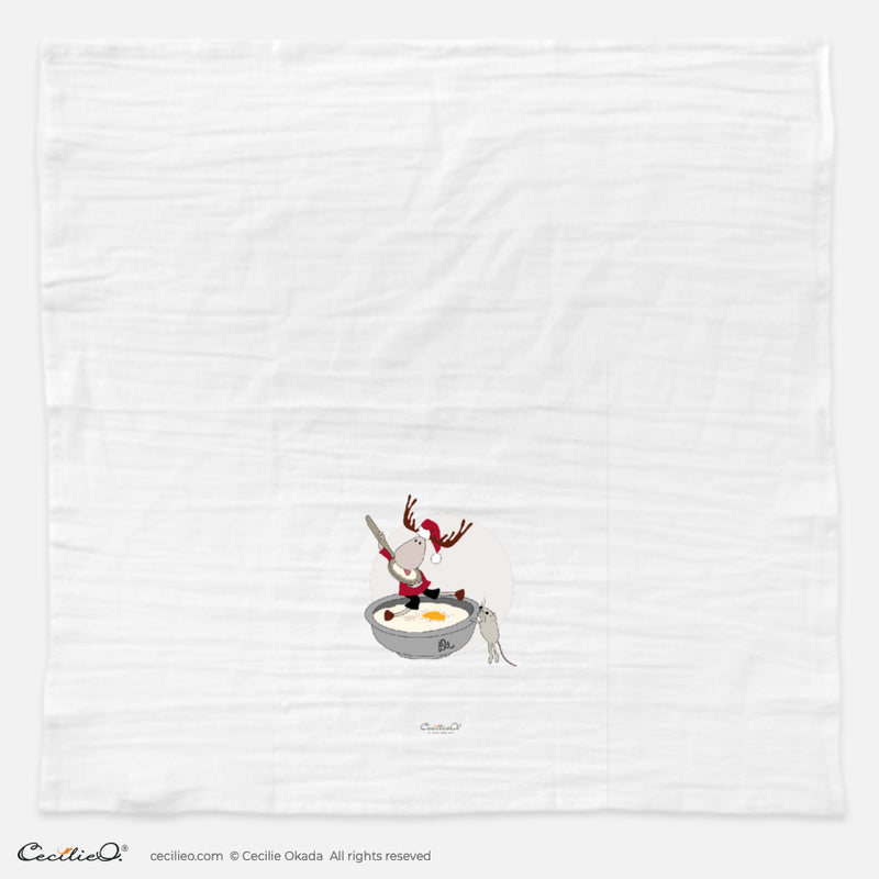 BrynUlf Elk Tea Towel | Christmas Porridge