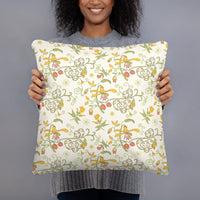 Decorative Throw Pillow I Flowing Flowers