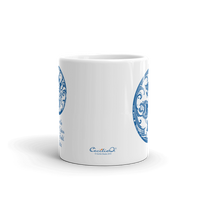 Blue Mandala Tea Mug with Meditation Quote