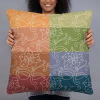Decorative Throw Pillow I Oriental Rainbow