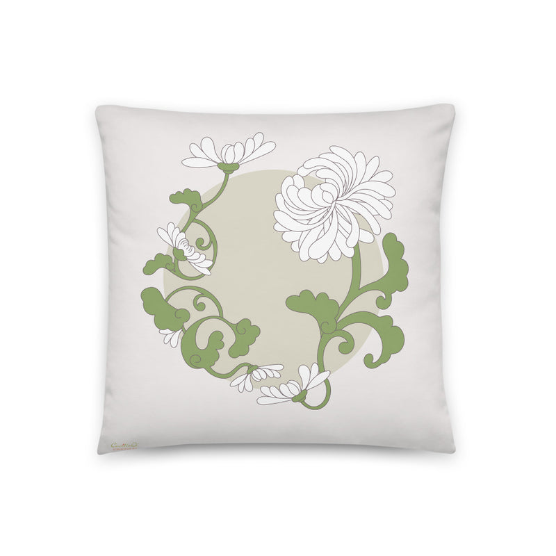 Decorative Throw Pillow I Chrysanthemum