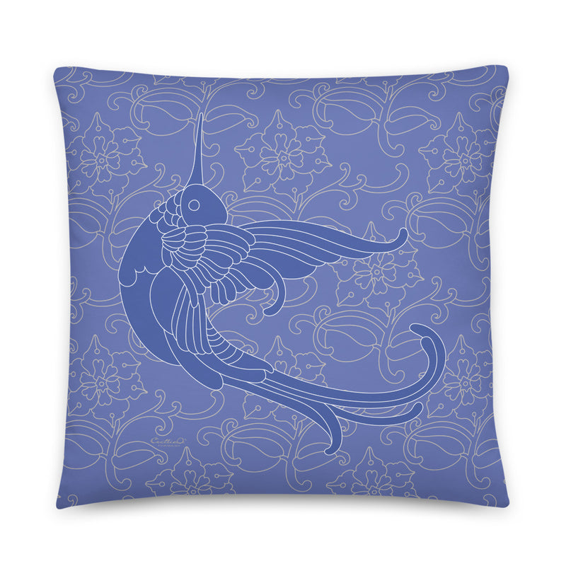 Decorative Throw Pillow I Hummingbird