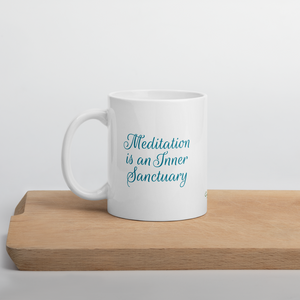 Amaryllis Tea Mug with Meditation Quote