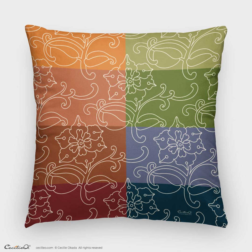 Decorative Throw Pillow I Patchwork Pattern