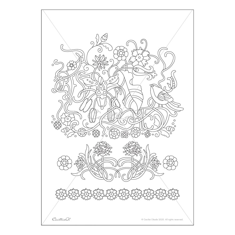 Rest- Printable Adult & Kids Coloring Sheet. Instant PDF download.