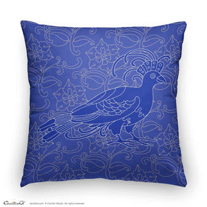 Decorative Throw Pillow I Dove Art Nouveau Design
