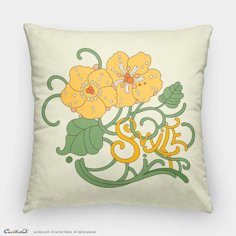Smile! Flower Pillow Case