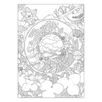 Spring Flowers- Printable Adult Coloring Page. Instant PDF download.