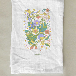 "Colorful ""HOPE"" Flower Letters Tea Towel"
