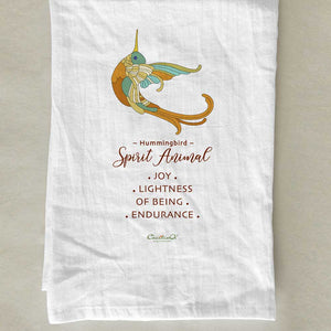 Hummingbird Spirit Animal Tea Towel