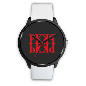 PK KHAOS RED UNISEX WATCH - LEATHER/ METAL BANDS
