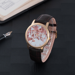 PK UNISEX ROSE GOLD LEATHER BAND