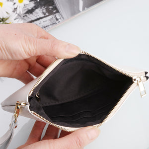 PK Men and Women's Genuine Leather Wallet around Long Clutch Purse
