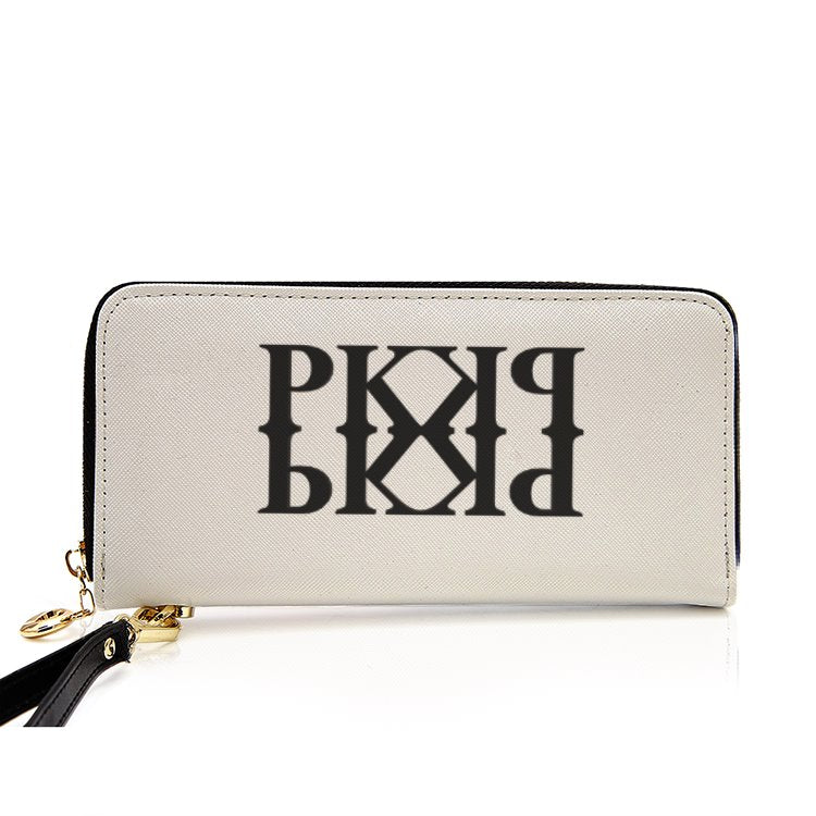 PK Men and Women's PU Leather Wallet around Long Clutch Purse