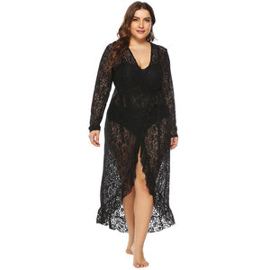 Women Crochet Smock Beach Cover Up