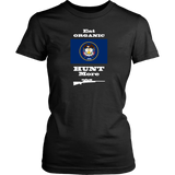 Eat Organic - Hunt More | Utah State Flag T-Shirt with Bolt Action Rifle