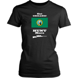 Eat Organic - Hunt More | Washington State Flag T-Shirt with Bolt Action Rifle