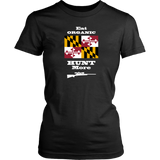 Eat Organic - Hunt More | Maryland State Flag T-Shirt with Bolt Action Rifle