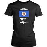 Eat Organic - Hunt More | Minnesota State Flag T-Shirt with AR15