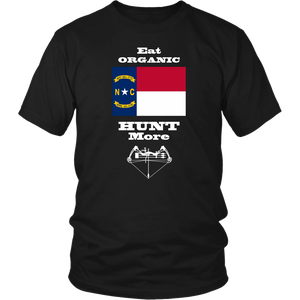 Eat Organic - Hunt More | North Carolina State Flag T-Shirt with Bow