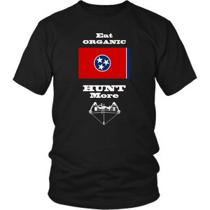 Eat Organic - Hunt More | Tennessee State Flag T-Shirt with Bow