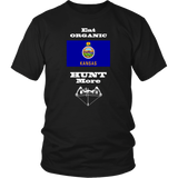 Eat Organic - Hunt More | Kansas State Flag T-Shirt with Bow