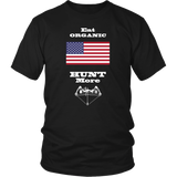Eat Organic - Hunt More | United States National Flag T-Shirt with Bow