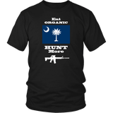 Eat Organic - Hunt More | South Carolina State Flag T-Shirt with AR15