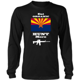 Eat Organic - Hunt More | Arizona State Flag T-Shirt with AR15