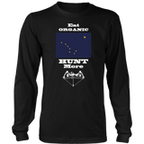 Eat Organic - Hunt More | Alaska State Flag T-Shirt with Bow